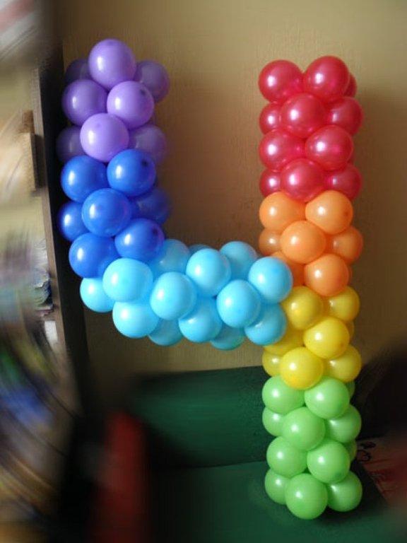 Сделать цифру из шаров своими руками